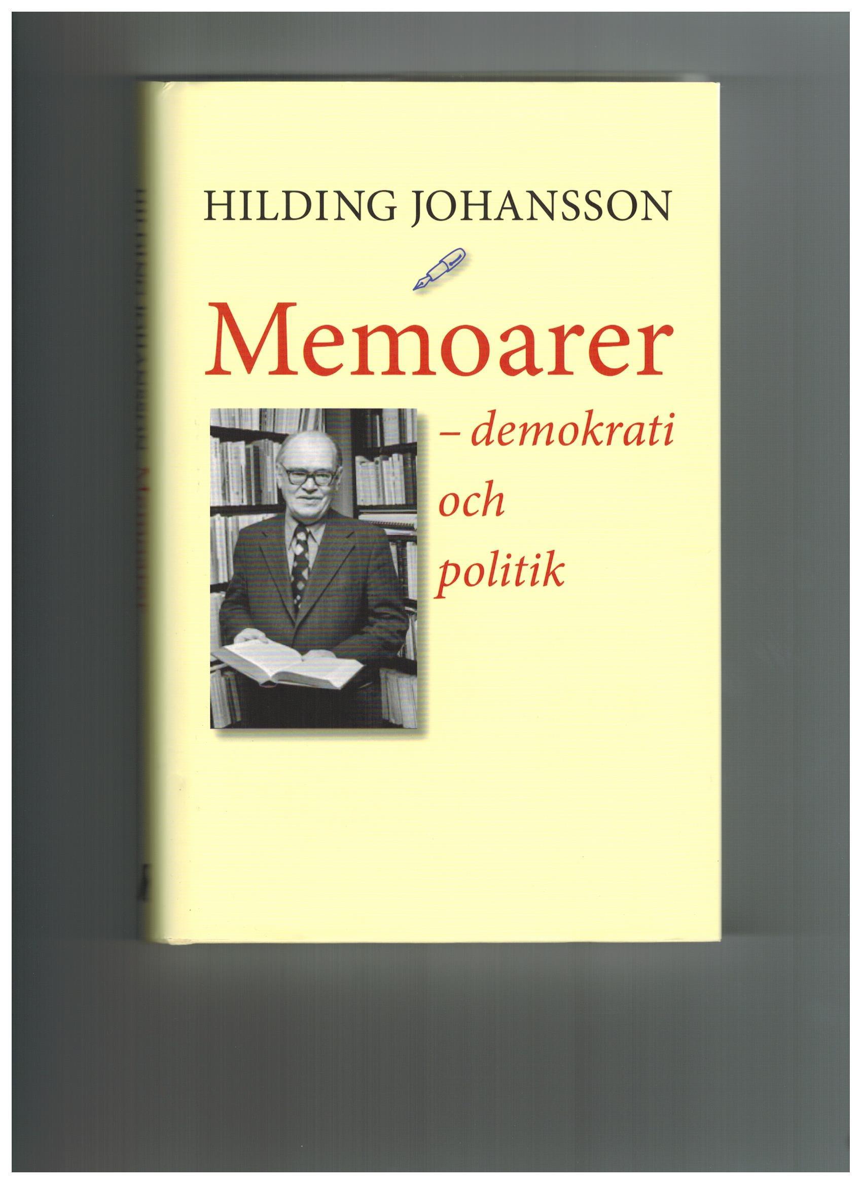Hilding Johansson;bok, bild